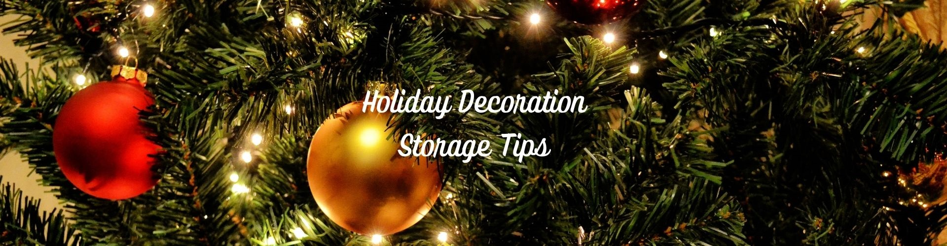 Holiday Decoration Storage